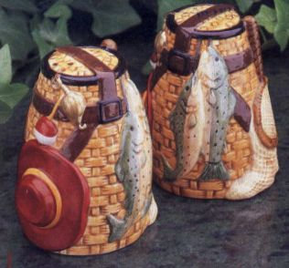 Ceramic Frontier Salt and Pepper Shakers