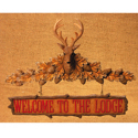 Welcome Hanging Sign W3554